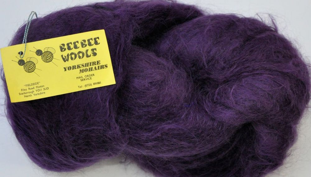 300g Skein Deep Purple DK long haired mohair